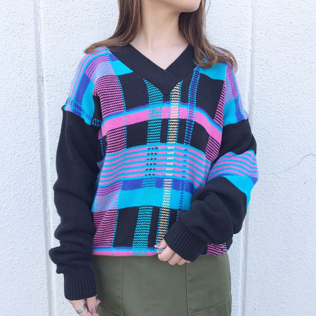 psychedelic knit