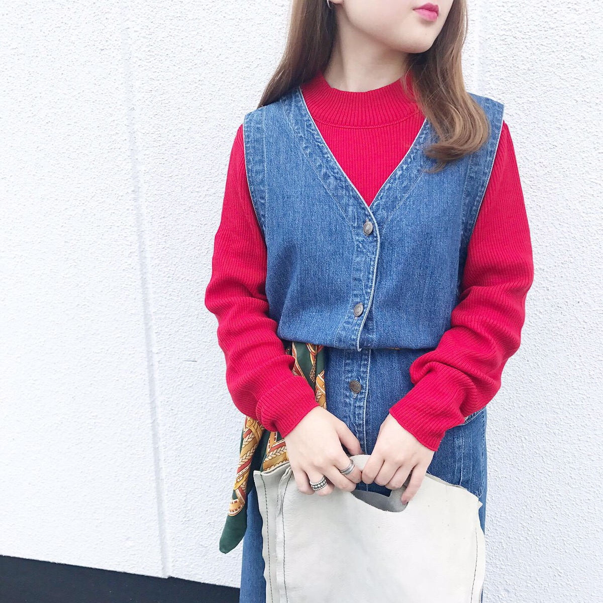 90's mock neck sweater made in USA -dead stock- | レザー トート バッグ バクスター イタリア製