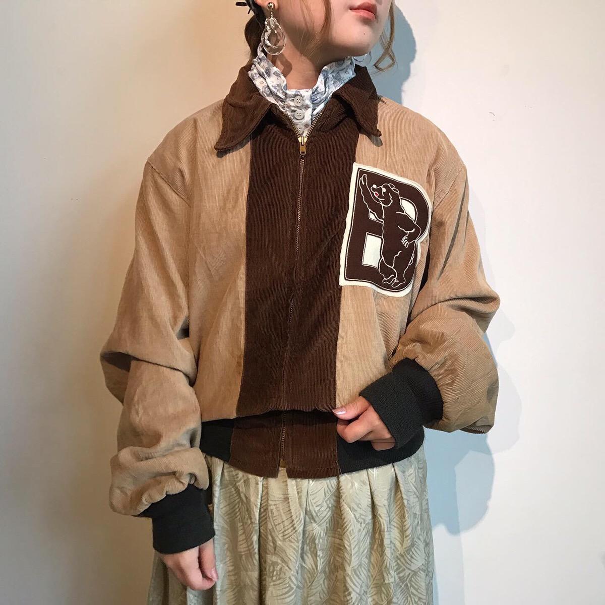 70s vintage corduroy jacket -TALON ZIP- | highneck shirt