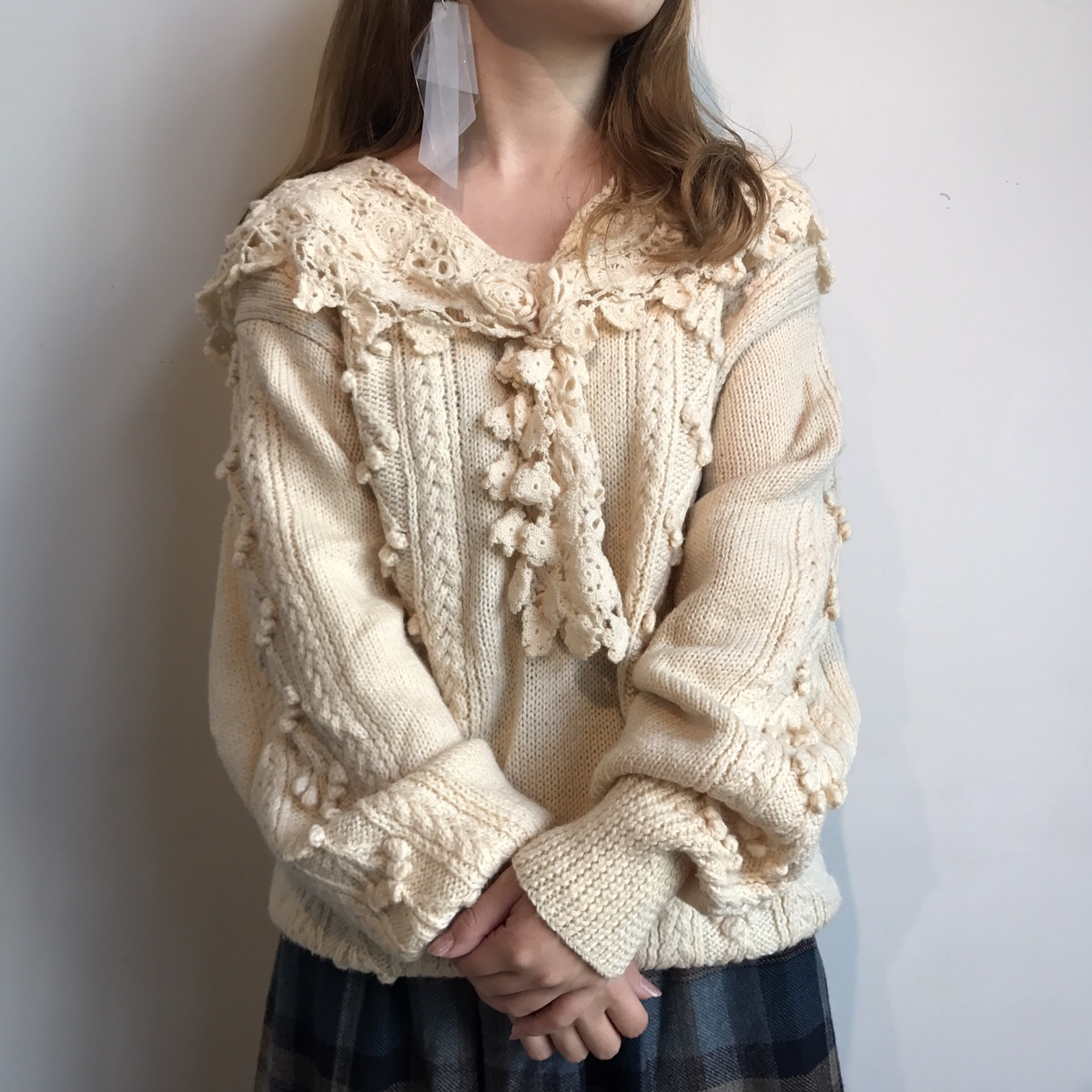 wool sweater knited by hand
