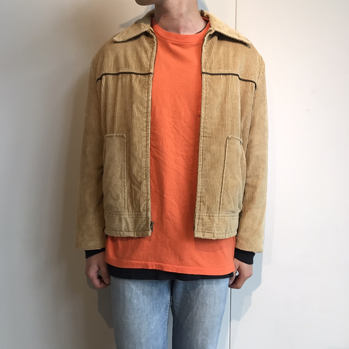 70-80s campus corduroy jacket made in USA