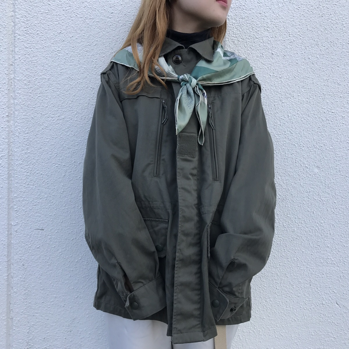 vintage scarf | french military jacket