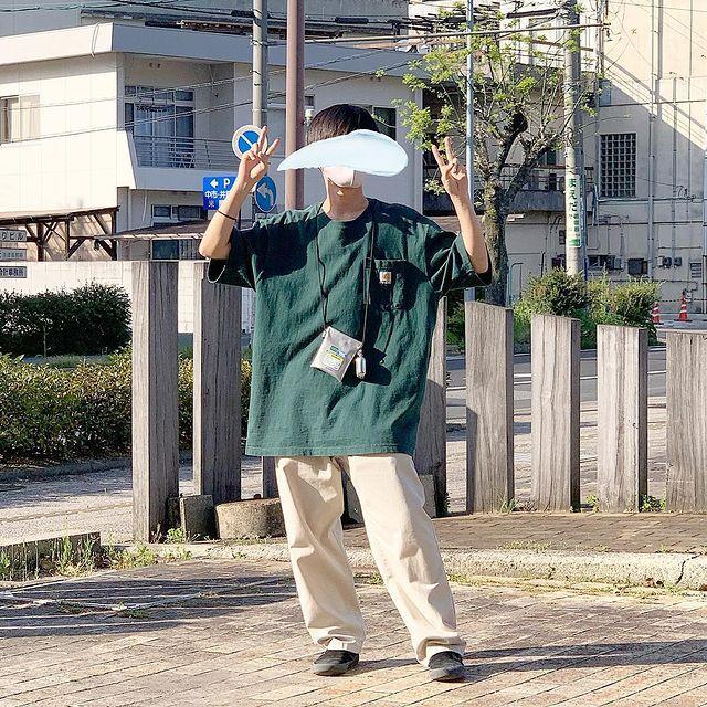 アメカジ 夏 カーハートTシャツのコーデ