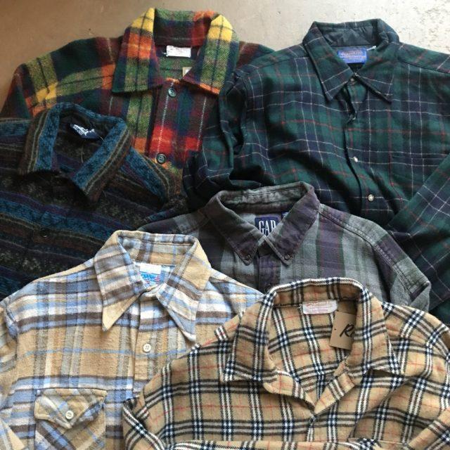 古着 秋冬の定番チェックシャツ