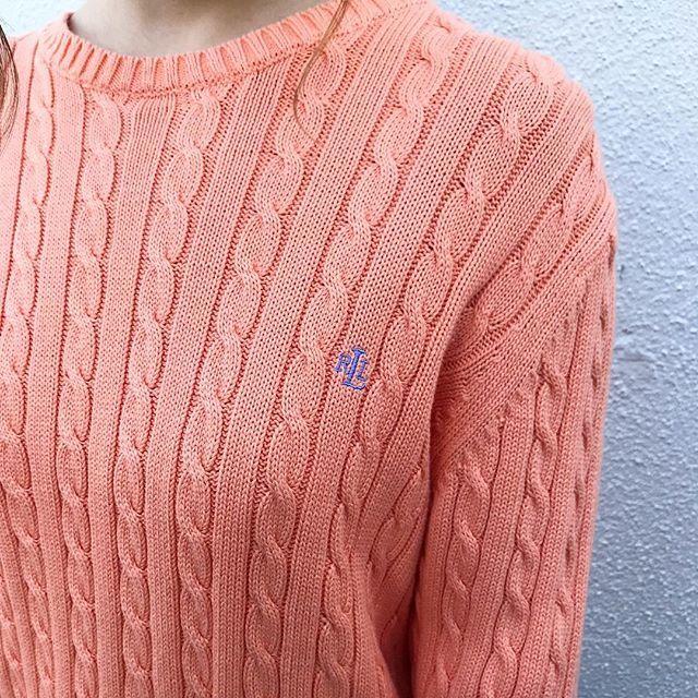 秋の古着セーターコーデ
