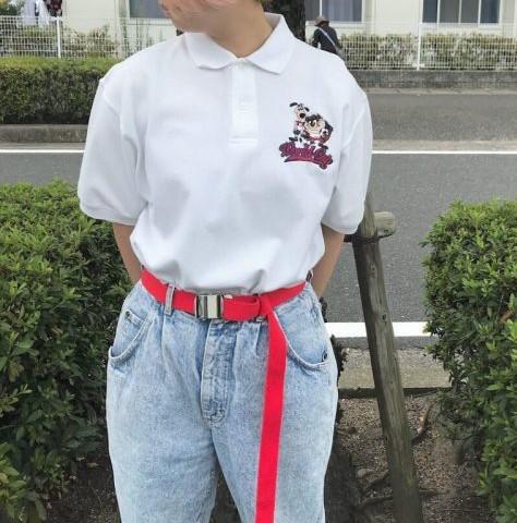 ポロシャツとジーンズのカジュアルコーデ