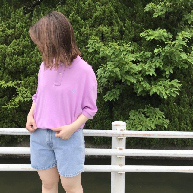 古着のシャーベットカラーポロシャツコーデ